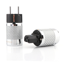 Hifi Audio Carbon Fiber Rhodium Plated Schuko Stekker Iec Vrouwelijke Connector