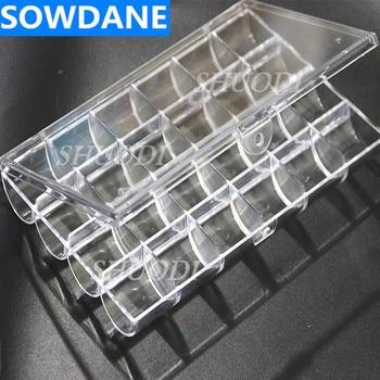 24 sloty akrylowy pojemnik na Dental zamki ortodontyczne/rurki policzkowe materiały części skrzynka