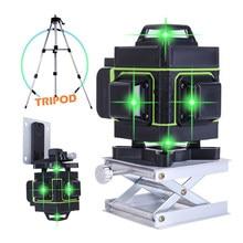 12/16 linee multifunzione 3D 4D livello Laser a raggio verde autolivellante strumento a 360 livelli con linea trasversale orizzontale verticale