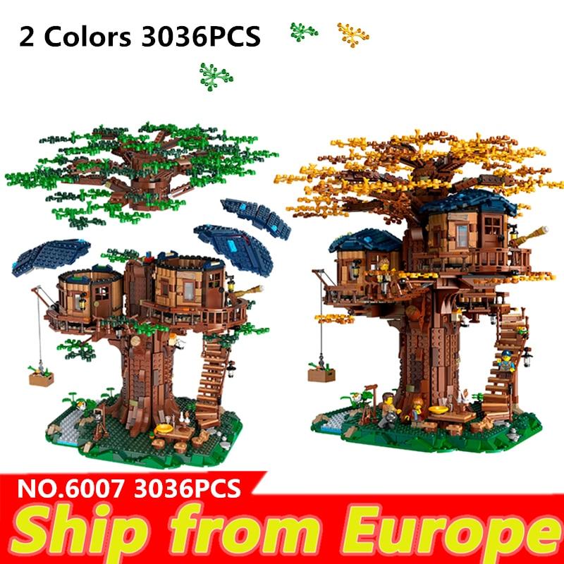 Дом на дереве листья из трех цветов конструкторных блоков, Детские кубики детские развивающие игрушки королевские игрушки рождественские ...