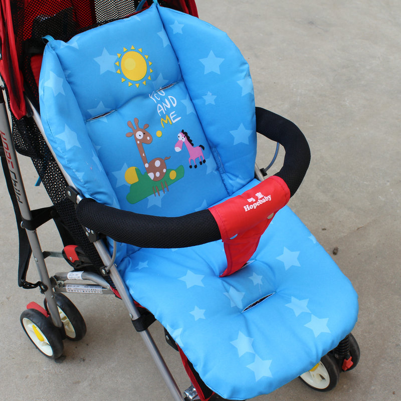 Cotton Thickening And Long Stroller Cotton Pad High Landscape Stroller Dining Chair Cartoon Cushion   WJH39