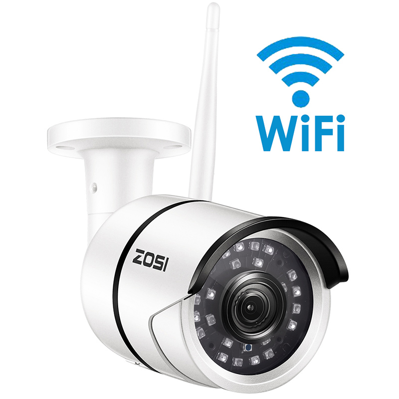 Kamera IP ZOSI 1080P Wifi Onvif 2.0MP HD zewnętrzna odporna na warunki atmosferyczne widzenie nocne z wykorzystaniem podczerwieni kamera bezpieczeństwa do monitoringu