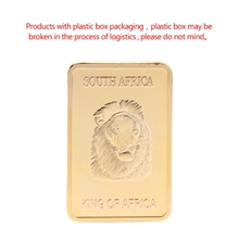 Commemorative Coin South Africa King Lion Square Collection Arts Gifts Souvenir
