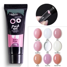 Nail Extension Poly Gel Crystal Acrylic UV Gel Pink White Clear Pure UV LED Builder Gel Tips Enhancement Quick Extension Gel