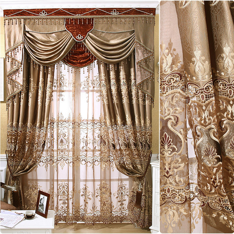 European Luxury Imported Locke Kingdom High Precision Stereo Embroidery Curtains For Living Dining Room Bedroom.