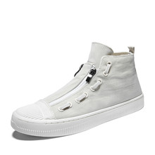 Men's shoes spring new trend wild lazy one pedal canvas high