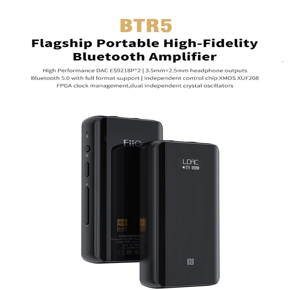 Image 2 - FiiO BTR5 portátil Bluetooth amplificador de auriculares CSR8675 tecnología AptX HD tecnología LDAC USB DAC AAC iPhone Android 3,5mm 2,5mm de Audio de alta fidelidad, decodificadorAmplificador de auriculares   -