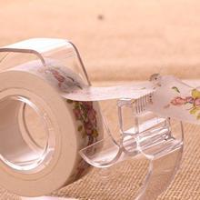 Модная прозрачная лента резак Пластик Washi клейкая лента ножницы ленты специальный резак держатель школьные канцелярские принадлежности