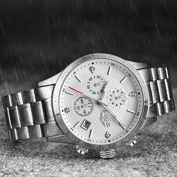 2020 LIGE Men Watches Top Luxury Brand Sport Quartz Watch Men Chronograph Waterproof Wrist Watch Man Stainless Steel Date Clock 2