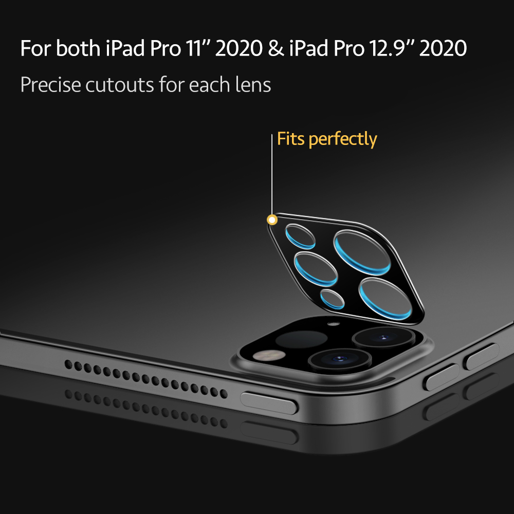 ESR for iPad Pro 11 12.9 2020 Camera Lens Glass 2pcs Camera Lens Flim for iPhone 12 mini 12Pro 12 Pro Max Glass Screen Protector