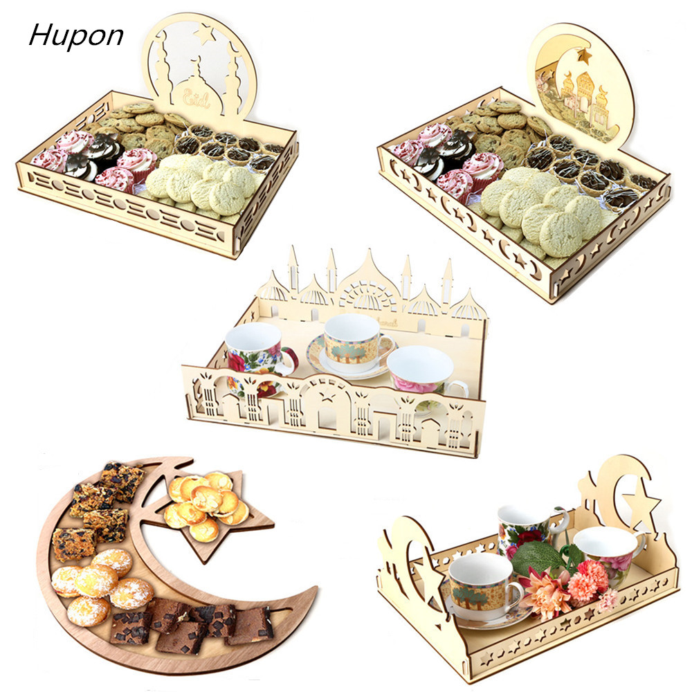 Ramadan Kareem Decoration For Home Eid Mubarak Gift Box Dessert Tray Craft Islam Muslim Party Festival Table Decor