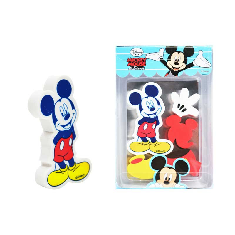 Disney Children Lovely Eraser Student Stationery Cartoon Boxed Rubber Prize Small Gift