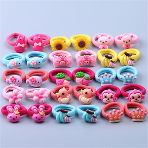 Free shipping Cartoon mini Children's hairties BB girl's rubber band kid's hair bands Ponytail Holder Hair accessories