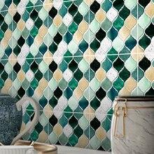 Funlife®Зеленая и желтая Настенная Наклейка vin mosaic 2 водостойкая