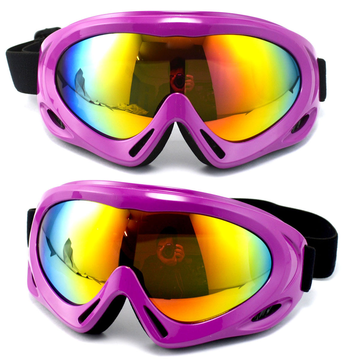 Guangzhou Small Spider-Ski Goggles Single Layer Snowfield Windproof Sand Eye-protection Goggles Customizable Processing