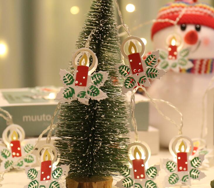 LED Lamp String Colour Lamp Colour Lamp Snowman Candle Decoration 1m 10led