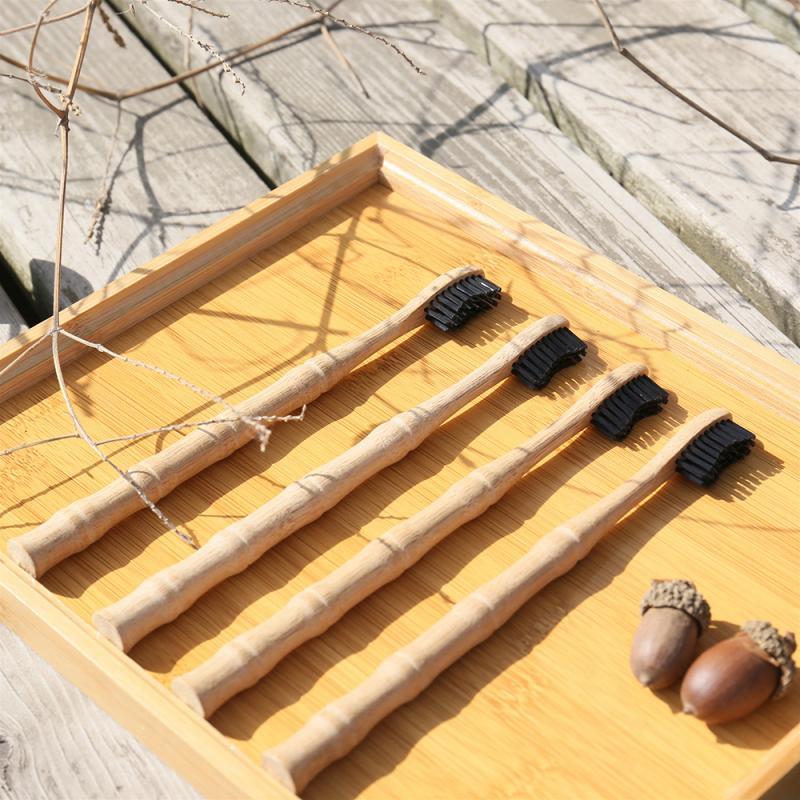 Yumuşak kıl diş fırçası doğal bambu diş fırçası bambu eklem şekli bambu kolu yumuşak kıl diş fırçası yetişkin diş fırçası
