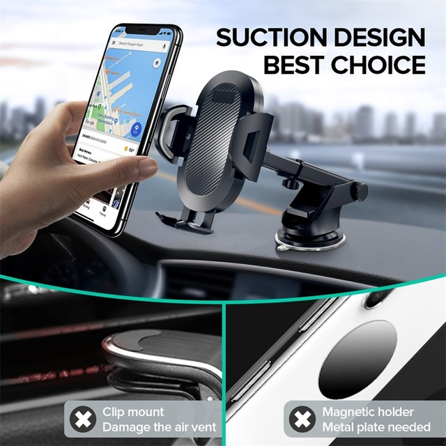 INIU Sucker Car Phone Holder Mobile Phone Holder Stand in Car No Magnetic GPS Mount Support For iPhone 11 Pro Xiaomi Samsung 2