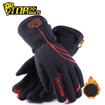 Masontex Waterproof Motorcycle Gloves Winter Heated Gloves Warm Ski Heated Gloves Waterproof Electric Heating Thermal Gloves electric thermal gloves winter usb hand warmer cycling motorcycle bicycle ski gloves rechargeable battery heated gloves