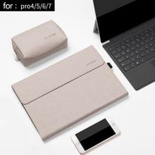 Capa de tablet para laptop, capa masculina para microsoft superfície pro 6 pro, 7 ângulos de folio bolsa do laptop das mulheres 4