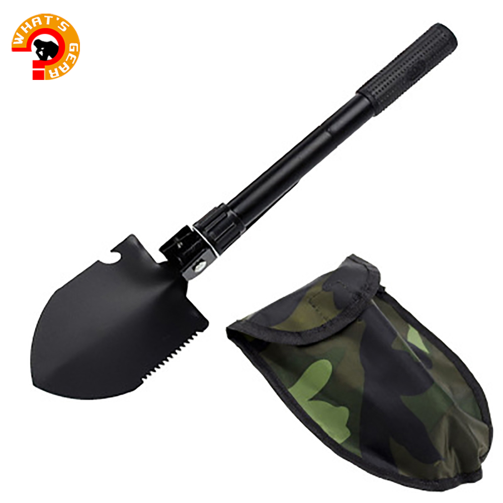 Military Portable Folding Shovel and Pickax with Tactical Waist Pack Army Surplus Multitool for Camping Hiking Fishing Gardenin(China)
