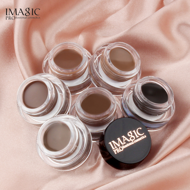 IMAGIC Professional Eyebrow Gel 6 Colors Eyebrow Enhancer Brow Enhancers Tint Makeup Eyebrow Brown With Brow Brush Tools 5