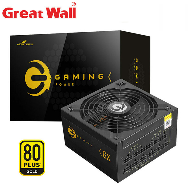 Great Wall PC Power Supply 850w 80Plus Gold ATX Computer Power Source 140mm Silent Fan PSU 24Pin APFC Power Supplies Unit