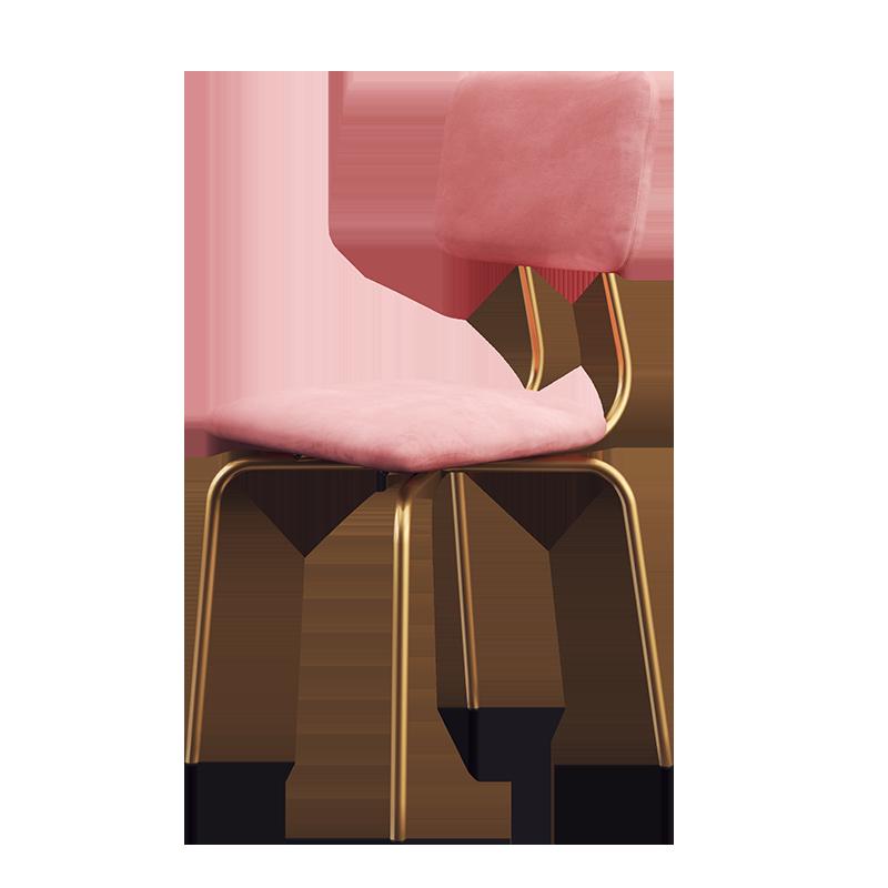 Dining Chair Modern Simple Ins Dressing Chair Dressing Stool Desk Chair Single Iron Art Light Luxury Restaurant Back Chair