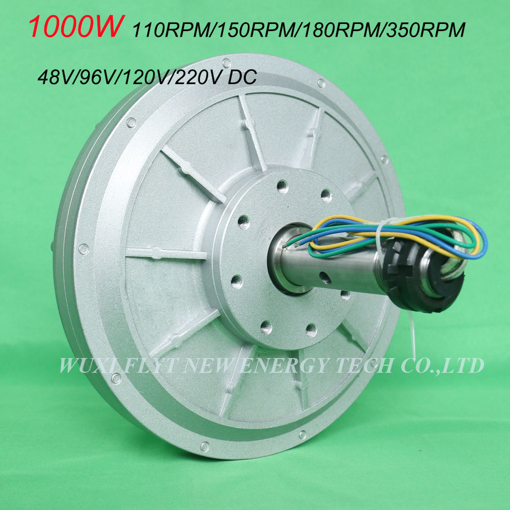 FLTXNY 1KW 48v 96v 120v 220v Coreless ac Rare Earth Permanent Magnet Generator Low RPM 110/150/180/350rpm 1000w Maglev Generator