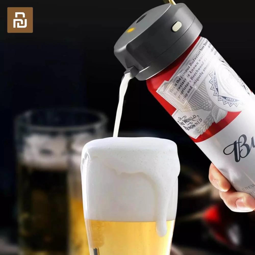 Star Compass Portable Mini Beer Foam Drinking Bubbler 40000 Times s Household Ultrasonic Liquid Foam Machine Bubbler Tool