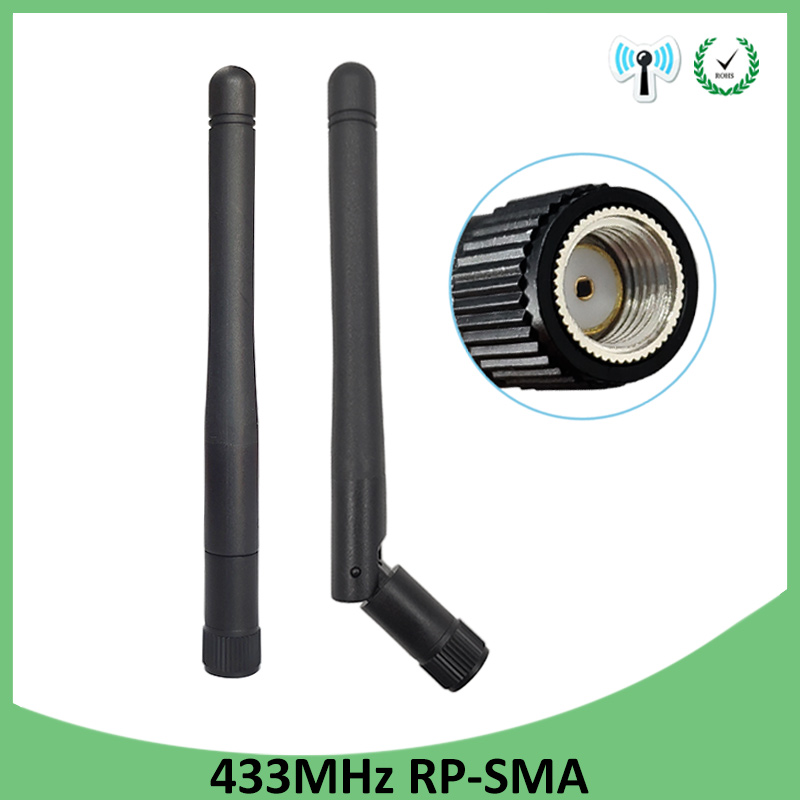 5pcs 433MHz Antenna 3dbi RP-SMA Connector 433 Mhz Antena Rubber Antenne For Wireless Watermeter Gasmeter Lorawan Emeter