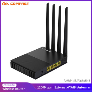 COMFAST CF-WR617AC 1200Mbps Wireless WiFi Router 2.4G&5GHz Dual-Band Home Wifi Range Extender 4*5dbi Antenna
