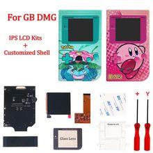 Neue Gehäuse Shell Sets mit IPS LCD Screen Kits für GameBoy Klassische DMG Hohe licht IPS LCD Kits mit Shell fall für GB DMG GBO