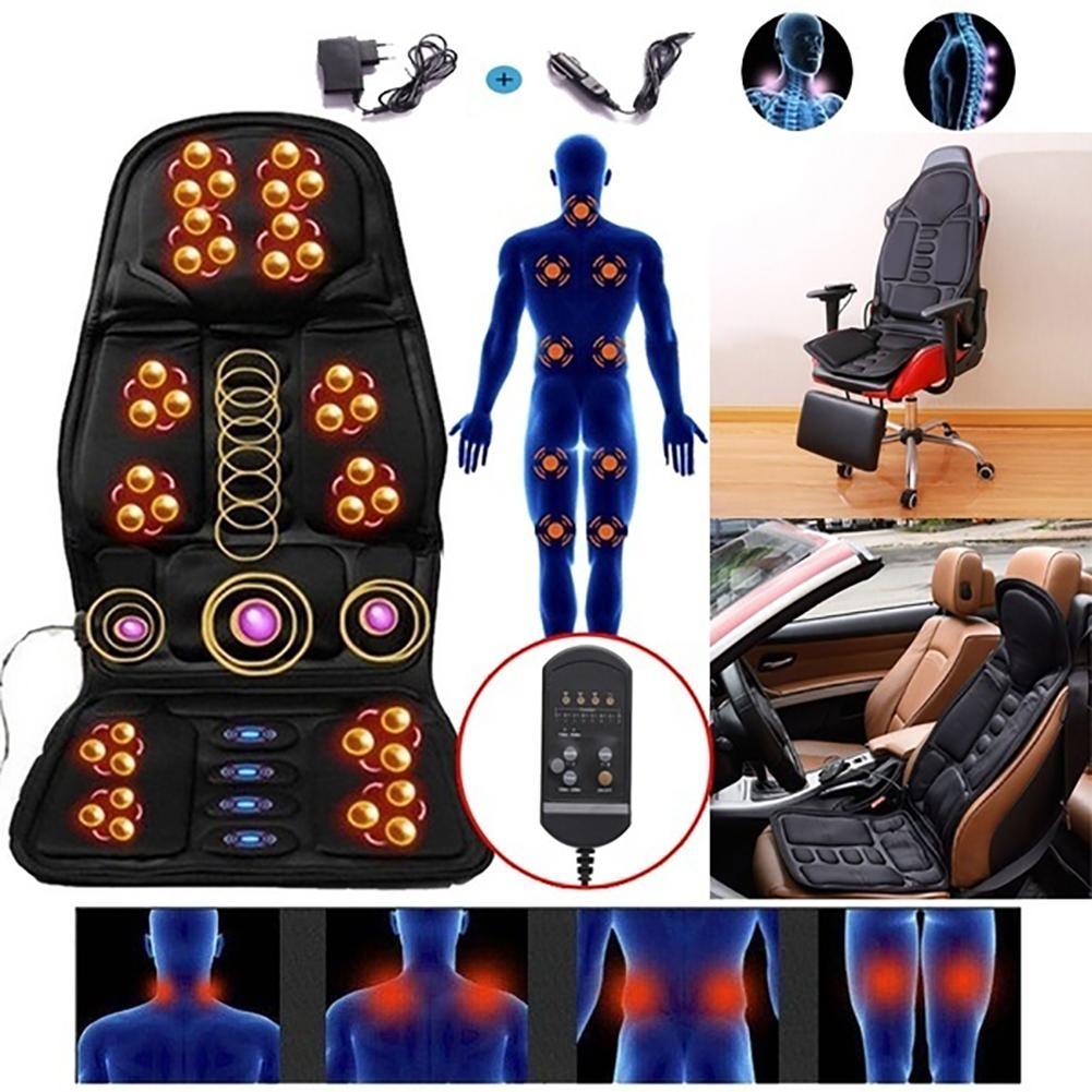 Almofada massageadora para dor nas costas, almofada para dor no pescoço, cadeira, escritório, casa, carro, cuidados de saúde