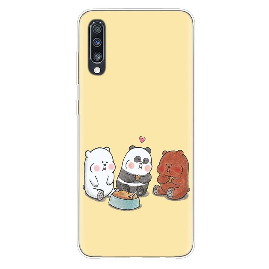 Cartoon We Bare Bears Panda Cute Soft Case For Samsung Galaxy A70 A50 A20E S10E S10 Plus A40 A30 A20 A10 A60 A80 M40 M30 M20 M10 in Fitted Cases from Cellphones Telecommunications