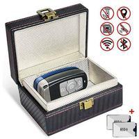 Anti roubo faraday caixa carro bloqueador de sinal keyless satefy rfid faraday chave fob protetor impedir que sua chave fob de ser digitalizada