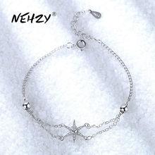 NEHZY-Bracelet en argent Sterling 925, bijou à la mode, cristal, Simple, rétro, étoile en Zircon