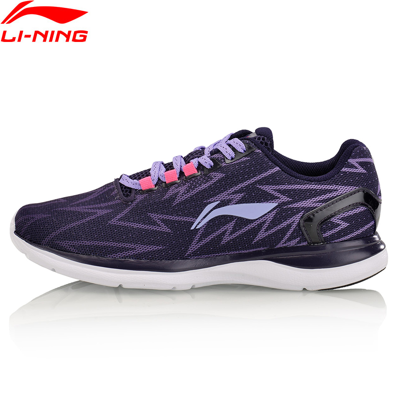 Li-Ning Women's Light Runner Running Shoes Textile Breathable Sneakers Wear-Resistance LiNing Li Ning Sport Shoes ARBM012 XYP517