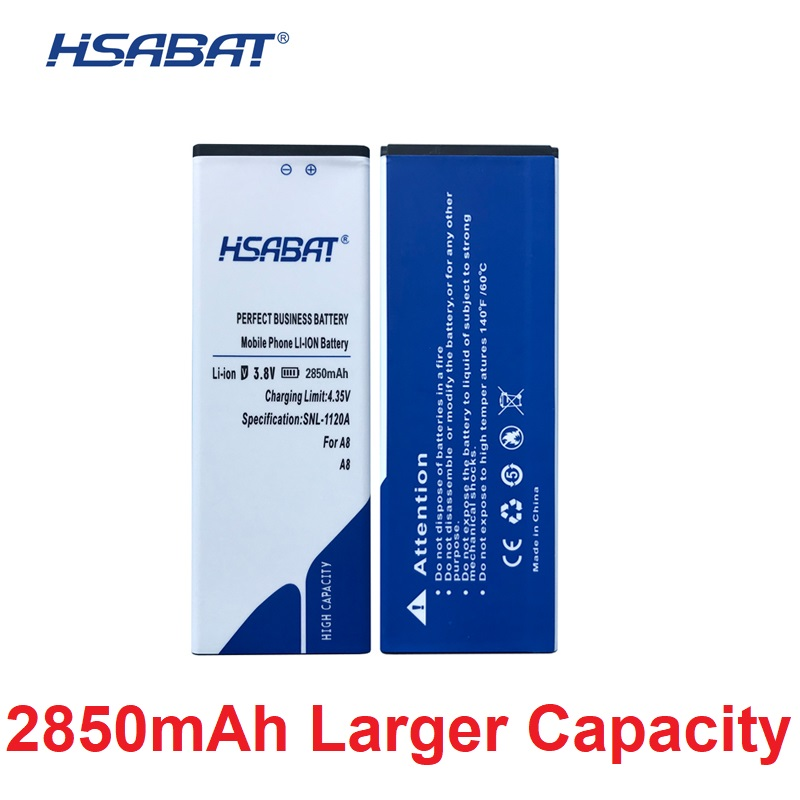 HSABAT 100% New 2850mAh Battery For Blackview A8 Batteries