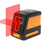 2 Lines Laser Level Meter Horizontal Vertical Red Cross Line Self leveling Receiver IP54 Without Bracket Clip63HF