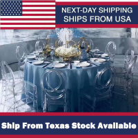 4Pcs Clear Crystal Chair High Quality Crystal Wedding Stacking Chiavari Chair Clear Side Dining Ghost Chair Ship From Texas USA