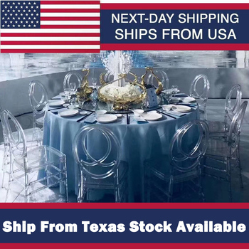 Clear Crystal Chair High Quality Crystal Wedding Stacking Chiavari Chair Clear Side Dining Ghost Chair Ship From Texas USA