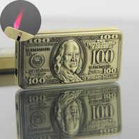 Originality 100 Dollar Drop-down Type Lighter Windbreak Lighter Inflation Lighter