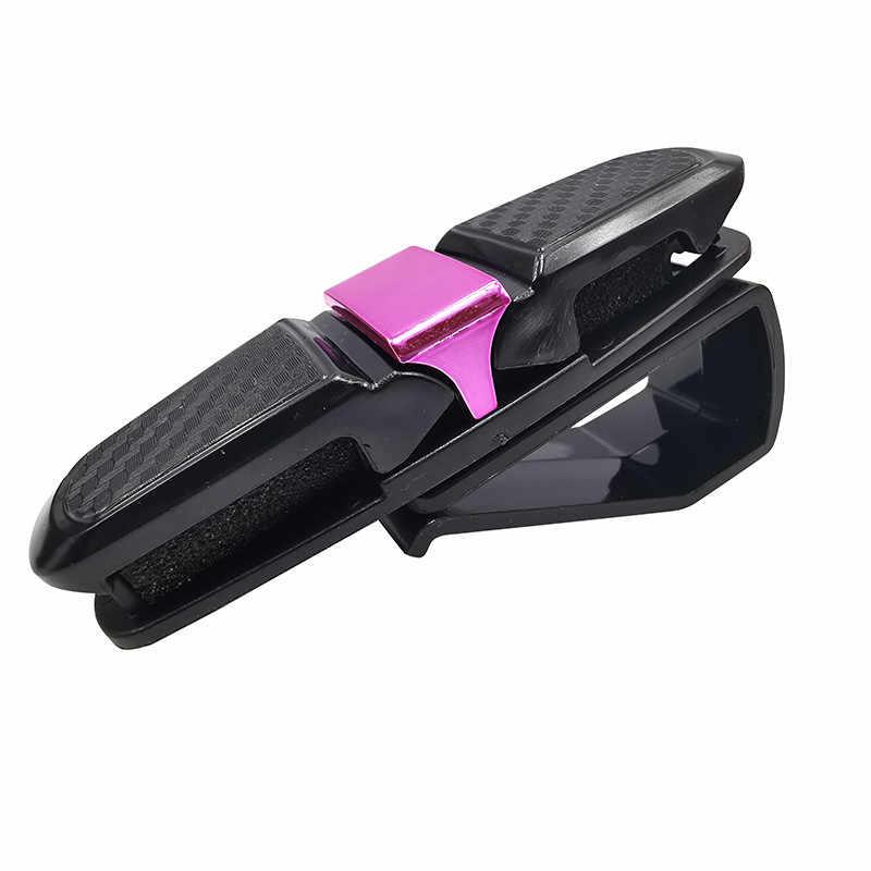 1 pcs רכב מגן שמש משקפי שמש קליפ אוניברסלי שחור כרטיס כרטיס בעל אטב Cip רכב משקפיים מקרה נייד רכב קישוט