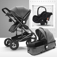 Baby Stroller 3 in 1 luxury Infant Stroller Luxury Newborn Foldable Anti-shock H