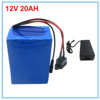 12V 20AH 3S battery 12v 20ah lithium battery with 12.6V 3A Charger for street light / cctv camera 30A BMS Free Shipping