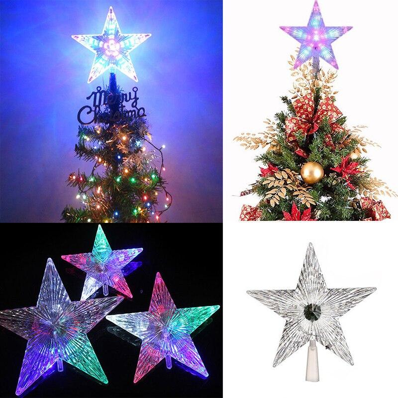 LED Star Lights Lamp Topper Party Christmas Tree 220V Creative Romantic Wedding Decoration Xmas Festival Lighting Bars