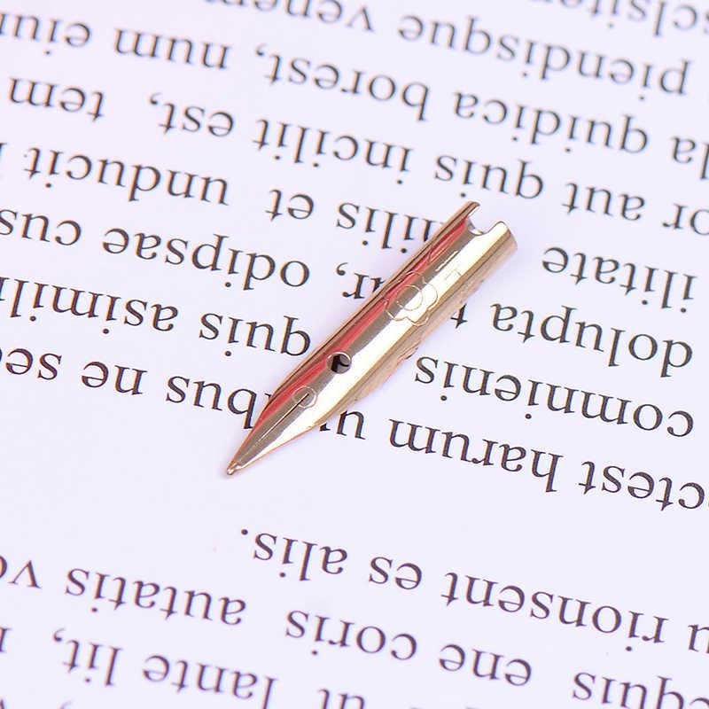 6 قطعة 0.5 مللي متر الفضة الفاخرة نافورة قلم حبر نقطة المنقار المدرسة القرطاسية مخزن البند غرامة أداة