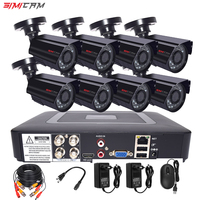 SIMICAM 8CH 4CH 720P/1080P AHD security Camera CCTV System DVR Kit CCTV waterproof Outdoor home HDVideo Surveillance System HDD