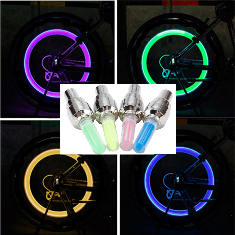 Amazing Coming LED Motorcycle Cycling Bike Bicycle Wheel Tire Valve Flash Light